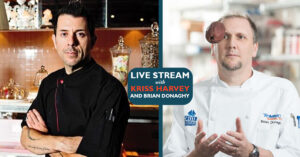 photo of Kriss Harvey and Chef Brian Donaghy